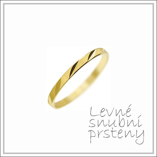 Snubní prsteny LSP 2830 žluté zlato