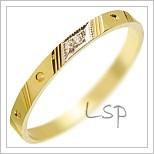 Snubní prsteny LSP 2837 žluté zlato