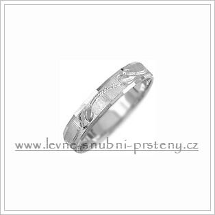 Snubní prsteny LSP 2839b bílé zlato