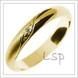 Snubní prsteny LSP 2842 žluté zlato