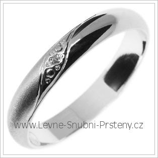 Snubní prsteny LSP 2842b bílé zlato