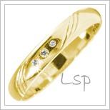 Snubní prsteny LSP 2843 žluté zlato