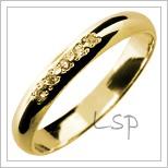 Snubní prsteny LSP 2845 žluté zlato