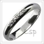 Snubní prsteny LSP 2845b bílé zlato
