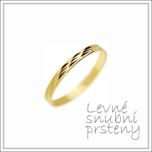 Snubní prsteny LSP 2846 žluté zlato