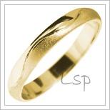 Snubní prsteny LSP 2848 žluté zlato