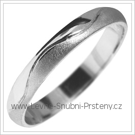 Snubní prsteny LSP 2848b bílé zlato
