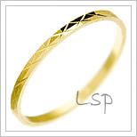 Snubní prsteny LSP 2853 žluté zlato