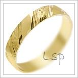 Snubní prsteny LSP 2862 žluté zlato