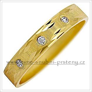 Snubní prsteny LSP 2864 žluté zlato s diamanty