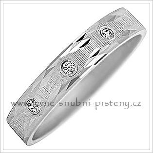 Snubní prsteny LSP 2864b bílé zlato