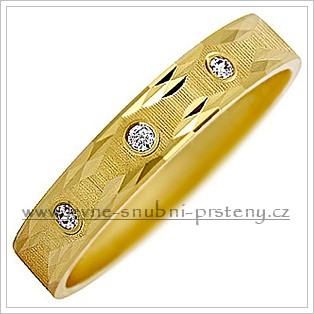Snubní prsteny LSP 2864z žluté zlato se zirkony