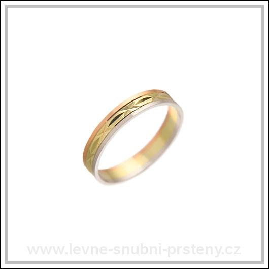 Snubní prsteny LSP 2869 kombinované zlato
