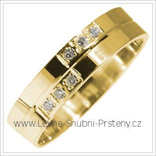 Snubní prsteny LSP 2876 žluté zlato