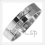 Snubní prsteny LSP 2876b bílé zlato