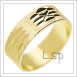 Snubní prsteny LSP 2877 žluté zlato