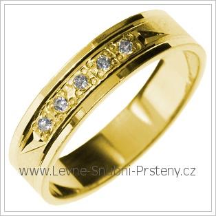 Snubní prsteny LSP 2878 žluté zlato
