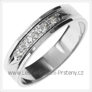 Snubní prsteny LSP 2878b bílé zlato