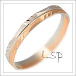 Snubní prsteny LSP 2883 kombinované zlato