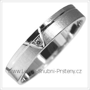 Snubní prsteny LSP 2885b bílé zlato