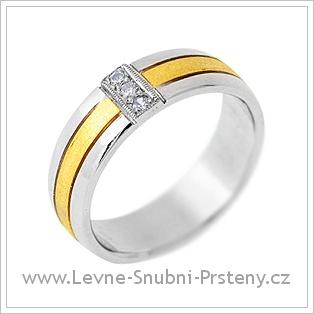 Snubní prsteny LSP 2887 - kombinované zlato
