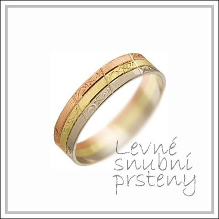 Snubní prsteny LSP 2891 kombinované zlato