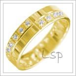 Snubní prsteny LSP 2893 žluté zlato
