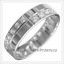 Snubní prsteny LSP 2893b bílé zlato