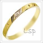 Snubní prsteny LSP 2900 žluté zlato