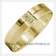 Snubní prsteny LSP 2903 žluté zlato