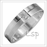 Snubní prsteny LSP 2903b bílé zlato