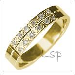 Snubní prsteny LSP 2904 žluté zlato