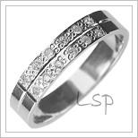 Snubní prsteny LSP 2904b bílé zlato