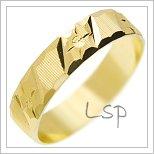 Snubní prsteny LSP 2909 žluté zlato