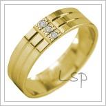 Snubní prsteny LSP 2914 žluté zlato