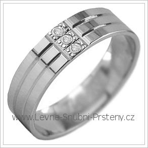 Snubní prsteny LSP 2914b bílé zlato