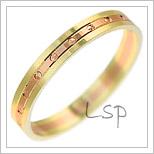 Snubní prsteny LSP 2918 kombinované zlato