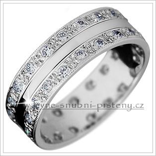Snubní prsteny LSP 2919b bílé zlato