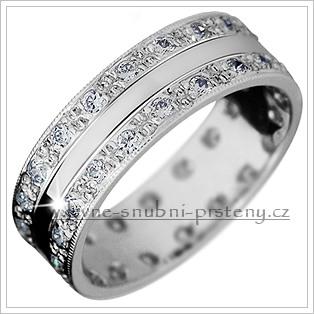 Snubní prsteny LSP 2919bz bílé zlato