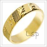 Snubní prsteny LSP 2925 žluté zlato