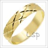 Snubní prsteny LSP 2933 žluté zlato