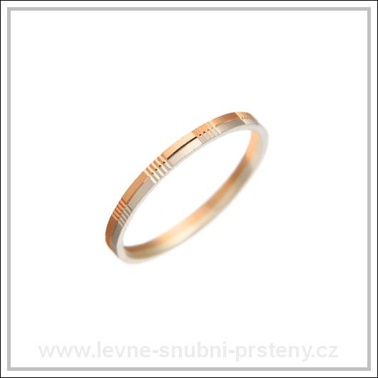 Snubní prsteny LSP 2942 kombinované zlato
