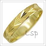 Snubní prsteny LSP 2950 žluté zlato