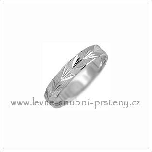 Snubní prsteny LSP 2950b bílé zlato