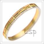 Snubní prsteny LSP 2951 kombinované zlato