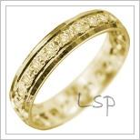 Snubní prsteny LSP 2953 žluté zlato