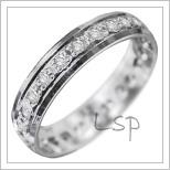 Snubní prsteny LSP 2953b bílé zlato