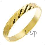 Snubní prsteny LSP 2959 žluté zlato