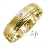 Snubní prsteny LSP 2962 žluté zlato