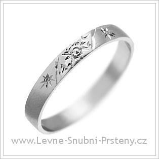 Snubní prsteny LSP 2969 bílé zlato